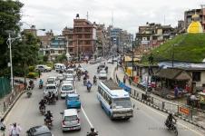 Pealelõunane vaikne liiklus Kathmandus